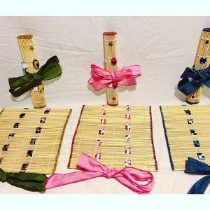 Bamboo makeup/ brushes organizer